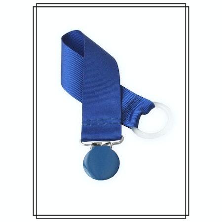 Blå napphållare - blått clip