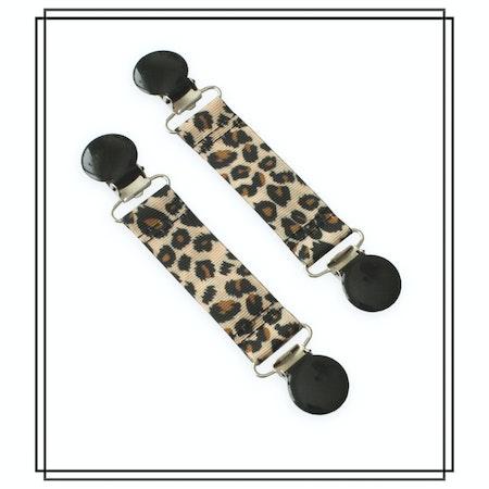 Vanthållare leopard med svarta clips