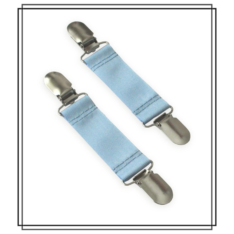 Ljusblå vanthållare
