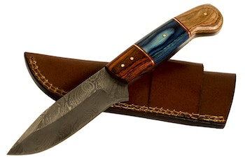 "Hunting knife ""Oscar"" Damasked steel"