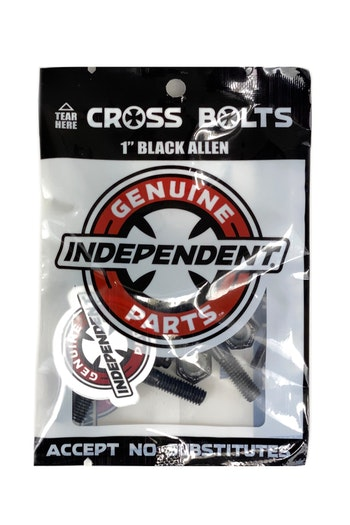 Independent 1.25'' Black Skateboard hardware