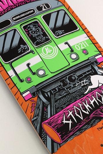 Skateboard Brädkultur Tunnelbana Green