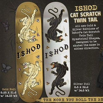 Real Skateboards Ishod Scratch Twin Tail Silver Foil 8.5''