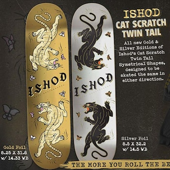 Real Skateboards Ishod  Scratch Twin Tail Gold Foil 8.25''