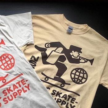 T Shirt Nordic Skateboard Supply Logo ''Vegas''