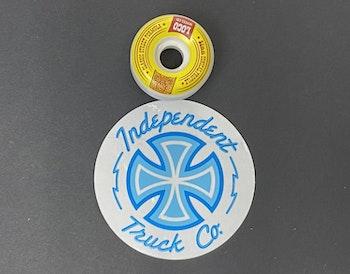 Sticker Independent  'Neon Mylar'
