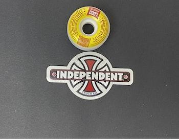 Sticker Independent  'VIntage Cross'