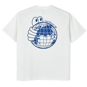 T-Shirt Last Resort AB ''World'' White Blue