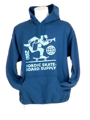 Hoodie Nordic Skateboard Supply Logo Blue