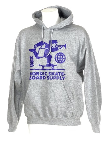 Hoodie Nordic Skateboard Supply Logo Grey