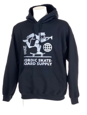 Hoodie Nordic Skateboard Supply Logo Black