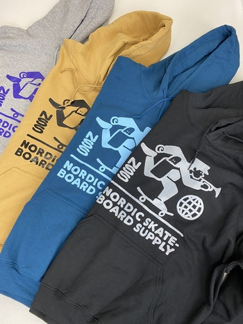 Hoodie Nordic Skateboard Supply Logo Sand