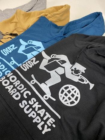 Hoodie Nordic Skateboard Supply Logo Black
