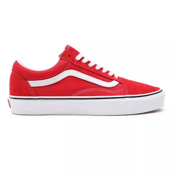 Vans Old Skool Red / White ( Canvas/Suede )