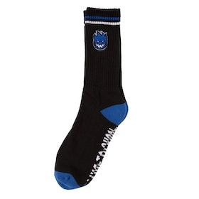 Socks Spitfire Bighead Fill EMB Black/Blue/White