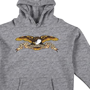 Hoodie Antihero Eagle Heather Grey