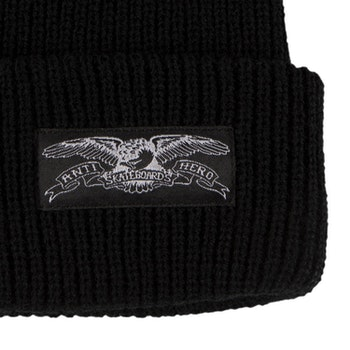 Beanie Antihero Eagle Label Cuff Black/White