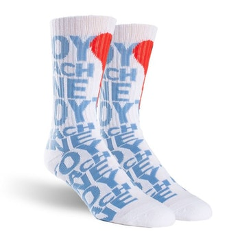 Socks Toy Machine New Blood White