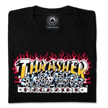 Thrasher Krack Skulls t Shirt Black