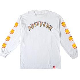 T Shirt Spitfire Old E Fill Long Sleeve White