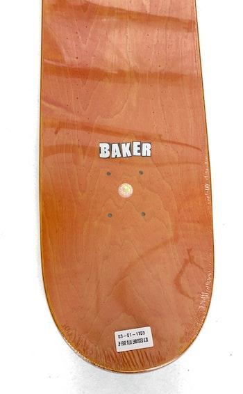 Skateboard Baker 8.38'' Figgy Edge Blue Embossed