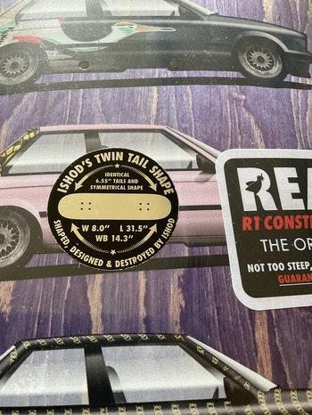 Real Skateboards Ishod  Twin Tail Customes 8.0'