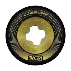 Ricta Wheels Chrome Core Slim 53mm Black Gold