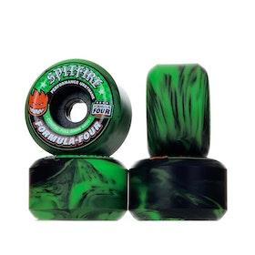 Spitfire Wheels Conical Full Formula Four Swirl 53mm 99a Green Black