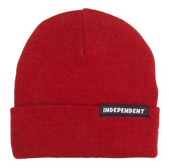 Independent Bar Beanie Cardinal Red