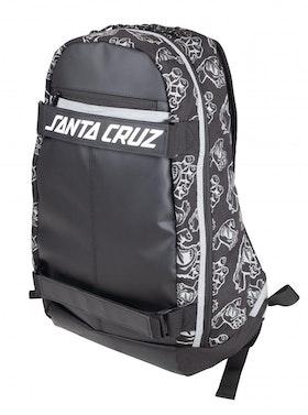 Backpack Santa Cruz Dispatch Skatepack Hands All Over Black