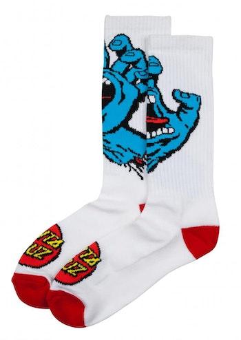 Socks Santa Cruz Screaming Hand White