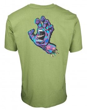 T Shirt Santa Cruz Growth Hand Green