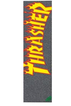 MOB Skateboard Griptape Thrasher Black Orange