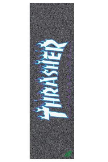 MOB Skateboard Griptape Thrasher Japan Flame Black Blue