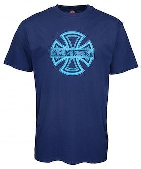 T-Shirt Independent Convex Logo Dark Navy