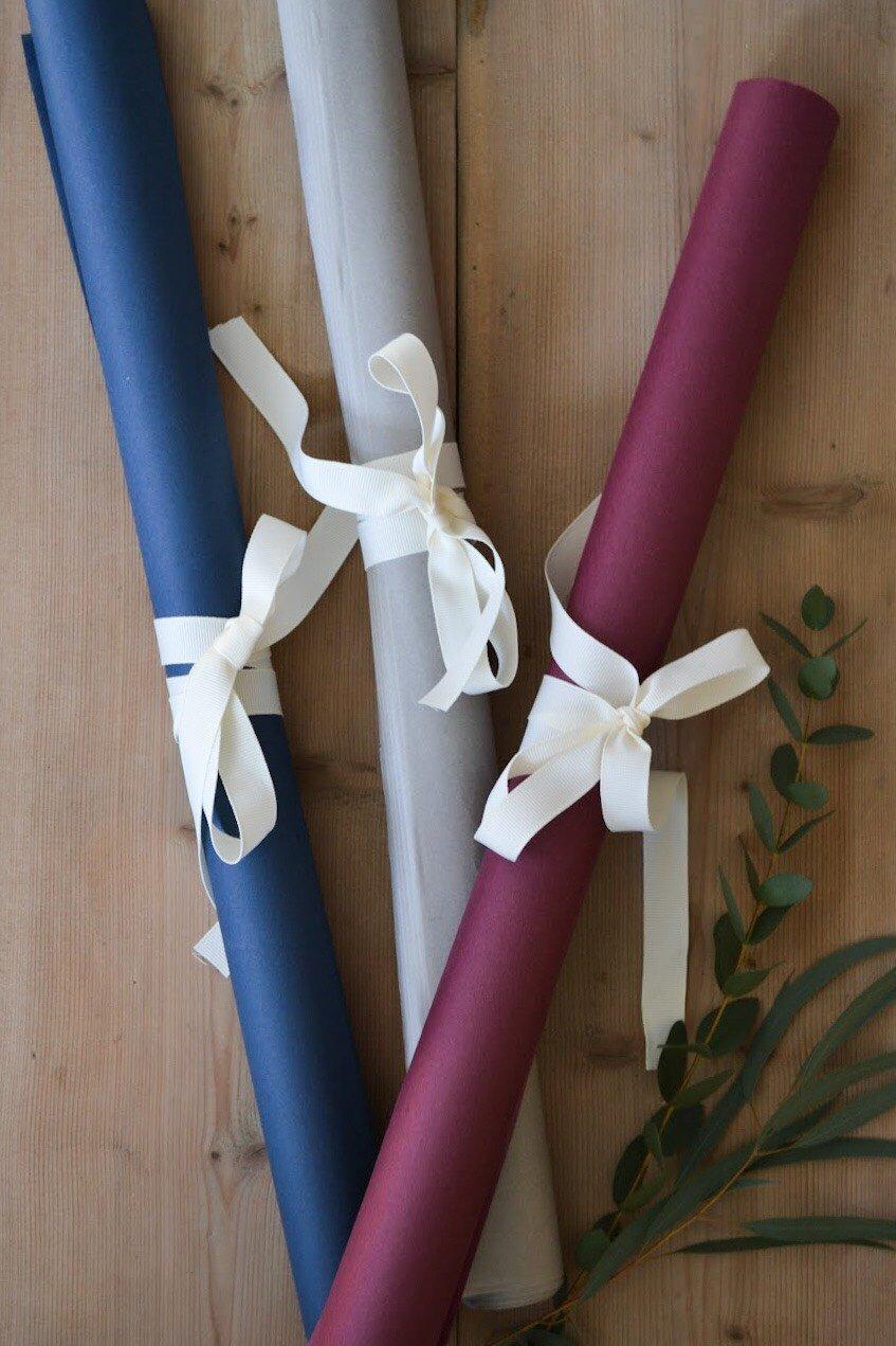 Rulle med 45 silkespapper