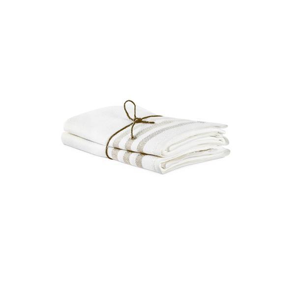 Handduk i linne 2-pack DIAGONAL NATUR