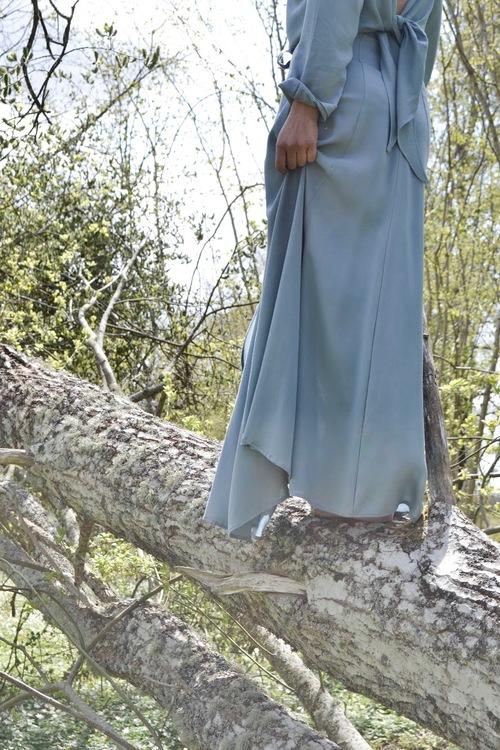 ULTIMATE LONG SKIRT - VINTAGE BLUE