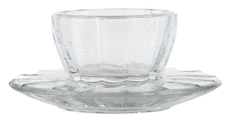 ÄGGKOPP I PRESSAT GLAS