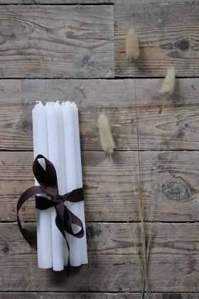 Långt julgransljus vit