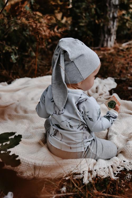 RABBIS BABYBODY LIGHT GREY PAPIJJON SWEDEN