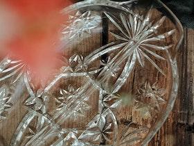 Avlångt glasfat med avskiljare VINTAGE