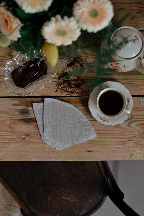 Kaffefilter i linne 2-pack