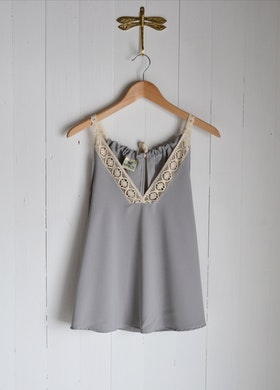 ALWAYS SUMMER TOP LIGHT GREY