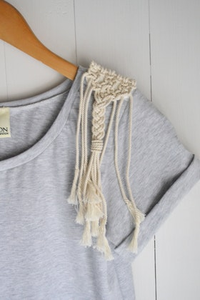 MACRAMÉ DETAIL ETERNITY T-SHIRT