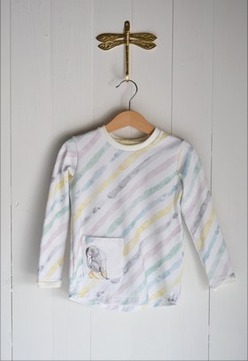 WATERCOLOUR STRIPE LONG SLEEVE T-SHIRT MULTI