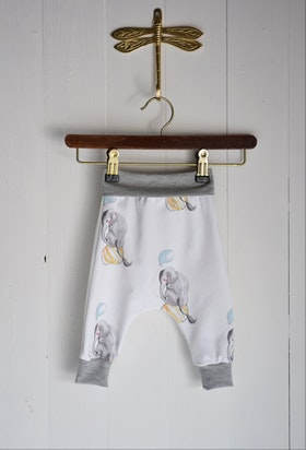 CIRCUS ELEPHANT BABYPANTS OFFWHITE