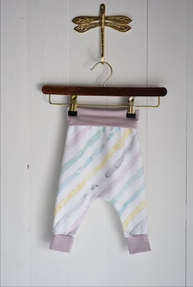 WATERCOLOUR STRIPE BABYPANTS MULTI