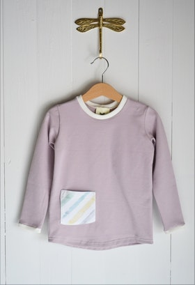 BASIC LONG SLEEVE T-SHIRT DUSTY PINK