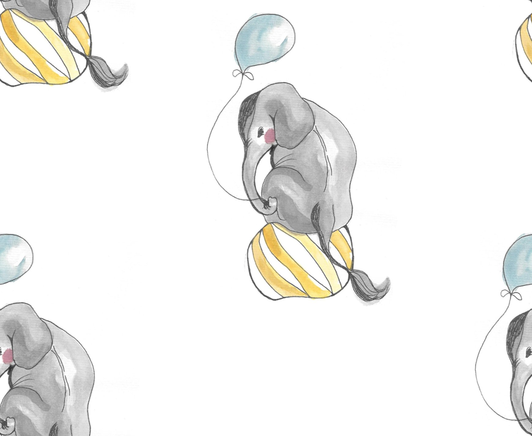 CIRCUS ELEPHANT BABYMÖSSA OFFWHITE
